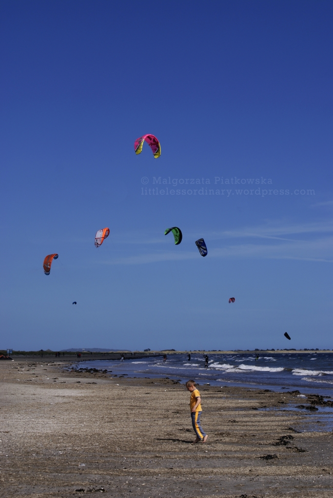 North Bull Island, popular destination for kitesurfers